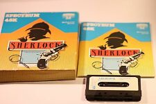 SHERLOCK SPECTRUM 48K  BY MELBOURNE HOUSE CASSETTES GAME BIG BOX GAME