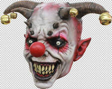 Clown Jingle Jangle Full Head Latex Mask Halloween Fancy Dress Adult