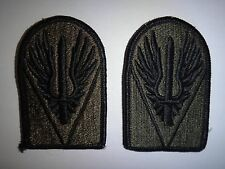 Set Of 2 US Military JOINT READINESS CENTER Subdued Merrowed Edge Patches