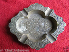 Old Vintage Rare Antique Look Hand Crafted Figure Carved Brass Islamic Ass Tray