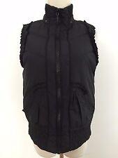 Betsey Johnson Puffer Vest Black Size S