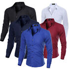 Stylish Mens Luxury Casual Dress Slim Fit Tee T-Shirts Long Sleeve Dress Shirts