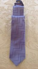 MISSONI 100% Silk Neck Tie Blue Zigzags Made in Italy