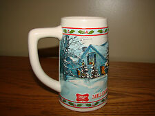 Vintage MILLER High Life BEER MUG Stein Holiday Traditions Limited Edition