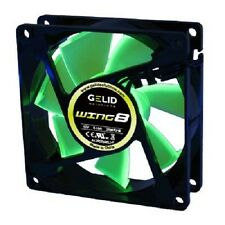 Gelid FN-FW08-20 WING8 UV Green 80mm Case Fan with 3 Pin Connector