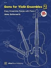 Gems for Violin Ensembles, Bk 2: Easy Ensemble Pieces with Piano (Book & CD), St