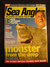 Sea Angler Magazine July 2004 - Peelers - Bass and Flounder