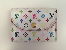 Pretty Pink Louis Vuitton White Multicolore Monogram Wallet Envelope Card Case