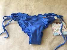 New Luli Fama Cosita Buena Wavey Brazillian Tie Side Bikini Bottom Size M