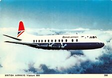 BRITISH AIRWAYS VISCOUNT 800 AIRLINE POSTCARD