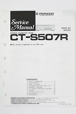 PIONEER CT-S507R Original Cassette Deck Service-Manual/Schaltplan/Diagram o99