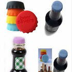 6pcs Lovely Beer Bottle Silicon Caps Saver Cover Reusable Stopper Lid Colour