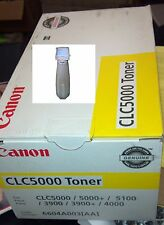 Canon CLC 3900, 4000, 5000, 5100 Yellow Toner 750 gm. per Bottle 15,000...