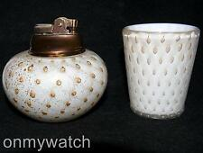 ELEGANT Set Murano BARBiNi Cenedese LIGHTER Vtg 1950s Italy Art GLaSs BULLiCANTE