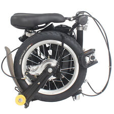 "14"" New Fashion Portable Single Speed Folding Bicycle Mini Foldable Bike - Black"