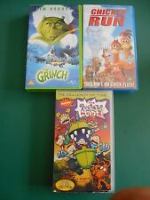 CHICKEN RUN,  THE GRINCH & THE RUGRATS MOVIE VHS VIDEOS