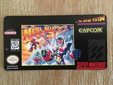 Custom Mega Man X3 Snes Cartridge Replacement Game Label Sticker Precut