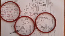 3 x Gaggia Classic,Baby, Boiler Gaskets /Silicone O Rings,1st Class, DM0041/082