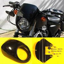Harley Sportster Dyna FX/XL Fork Black Cafe Drag Headlight Fairing Custom Visor