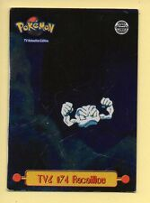 POKEMON Carte TOPPS METAL (HOLO) TV6 N° 74 RACAILLOU