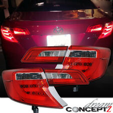 2012-2014 TOYOTA CAMRY L.E.D TAIL LIGHTS LAMPS RED / CLEAR STYLE PAIR 4 PIECES