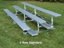 3 Row Aluminum Bleacher Bleachers Baseball - Football