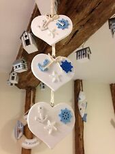 Nautical Hanging Decoration Shabby Chic Heart Anchor Wheel Star Fish