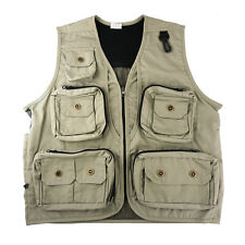 Safari Photo Vest Travel Hiking Fishing Camping Hunting Director Video Vest - M