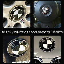 CARBON Fiber BLACK Overlay Decal for BMW BADGE EMBLEMS ROUNDEL Wheels Hood Trunk