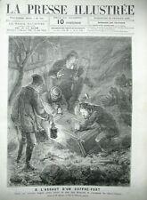 CAMBRIOLEURS COFFRE-FORT SCENE ETATS-UNIS VIRGINIE GRAFTON GRAVURES JOURNAL 1880
