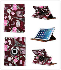 360D Rotation  PU Leather Folio Case Cover with Towel Patten For iPad Air,Air 2