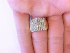 Nice 10K YG  Thick Diamond Cluster A-Plane Ring. WEAR READY. 11.25 US Size. 1 TW