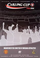 CARLING LEAGUE CUP FINAL 2006 MAN UTD v WIGAN MINT PROGRAMME MANCHESTER