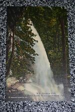 VTG Textured RAINBOW FALLS PostCard Great Smoky Mountains National Park Photo A+