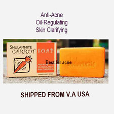 SHULAMMITE CARROT SOAP Anti Acne Skin Clarifying Oil Regulating  150 GRAMS