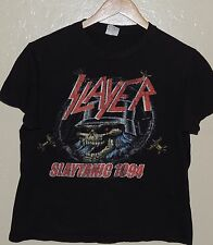 Slayer Slaytanic 1994 RETRO Black Concert Promo T Shirt Size Small
