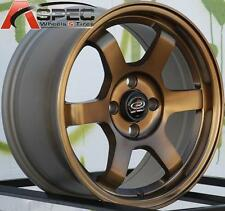 SPORT BRONZE 15X7 +38 ROTA GRID 4X100 RIM FIT INTEGRA CIVIC YARIS COROLLA COLT