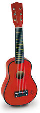 Vilac RED GUITAR Toddler/Child Music Instrument Strings Wooden Melody Song BN
