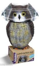 Large Realistic Owl Decoy Wind Action Rotating Head -  Bird Pigeon Crow Scarer