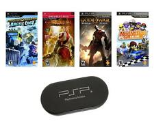 PSP Ultimate 4 Game Bundle with Free UMD Case Holder - Brand NEW - Special Price