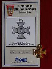 GÖDE Orden Hessen Militär-Dienstehrenzeichen 25 Dienstjahre der Offiziere (515)