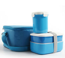 Bento Lunch Box Set with Insulated Lunch Tote Bag Picnic Food Container School