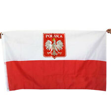 Large 3x5 Ft Poland Eagle Flag Polish State National Flags Banner 90*150 cm Cool
