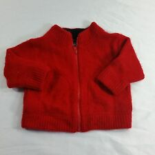 Banana Republic Baby Red Cashmere Sweater Cardigan Small Christmas Holiday