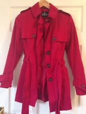 LADIES WOMENS DAVID PARRY Red COAT SIZE 8