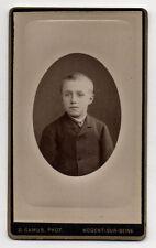 PHOTO - CDV - Enfant - Ovale - D. CAMUS à Nogent Sur Seine - Vers 1900 - Vintage