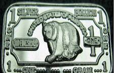 10 x Argent 999 Lingot d'argent argenté Silverbar Ours ours NEUF ! NEUF Rare