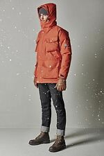 Nigel Cabourn K100 Down Parka in Rescue Orange, size Large - BNWT, RRP £900