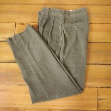 Eddie Bauer Green Cotton Nanocare Corduroy Comfort Dress Pants Slacks 30 x 32