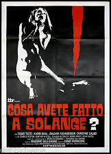 COSA AVETE FATTO A SOLANGE? MANIFESTO CINEMA THRILLER 1972 CULT MOVIE POSTER 2F